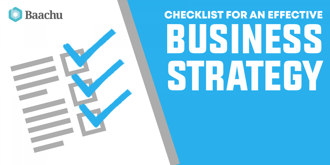 Checklist for an Effective Business Strategy